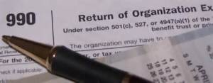 IRS Form 990 non-profit form