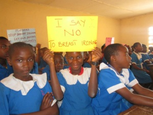 I say NO to breast Ironing: Picture that appeared on the original article at The Grio