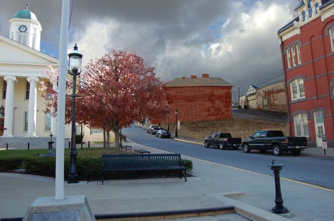 Streetscape next to the Centre County Courthouse if and when the Garman Opera House is razed. We need to stop this before it happens. Photo rendition by Mary Vollero