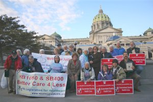 Advocates for Single Payer Healthcare Rallying in 2009 in Harrisburg, PA