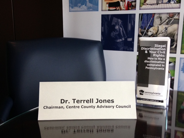 picture of an empty seat at the table for Dr. Jones