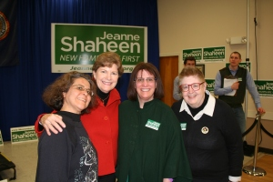 picture of NOW PAC Feminist Field Force with Senator Jeanne Shaheen