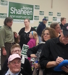Waiting inside the IBEW Hall in Concord NH to hear Senators Shaheen & Warren 2014-10-25 13.13.51