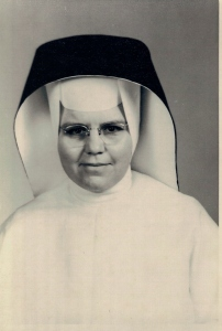 Picture of Sr. Frances Ellen Bowery as a young woman in her habit.