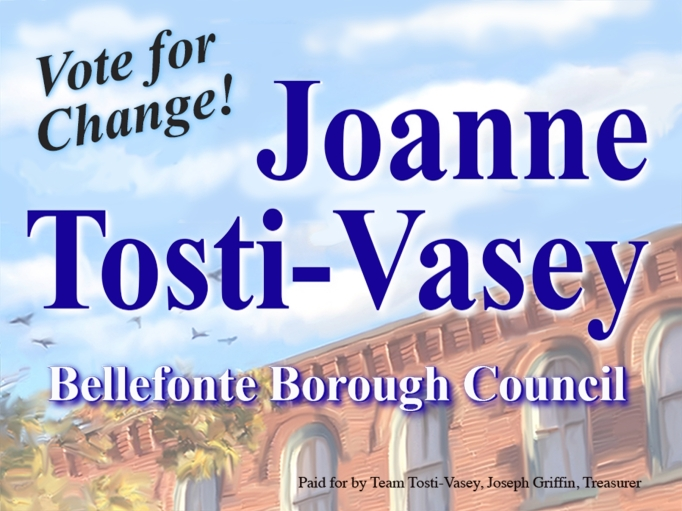 Picture of Tosti-Vasey yard sign