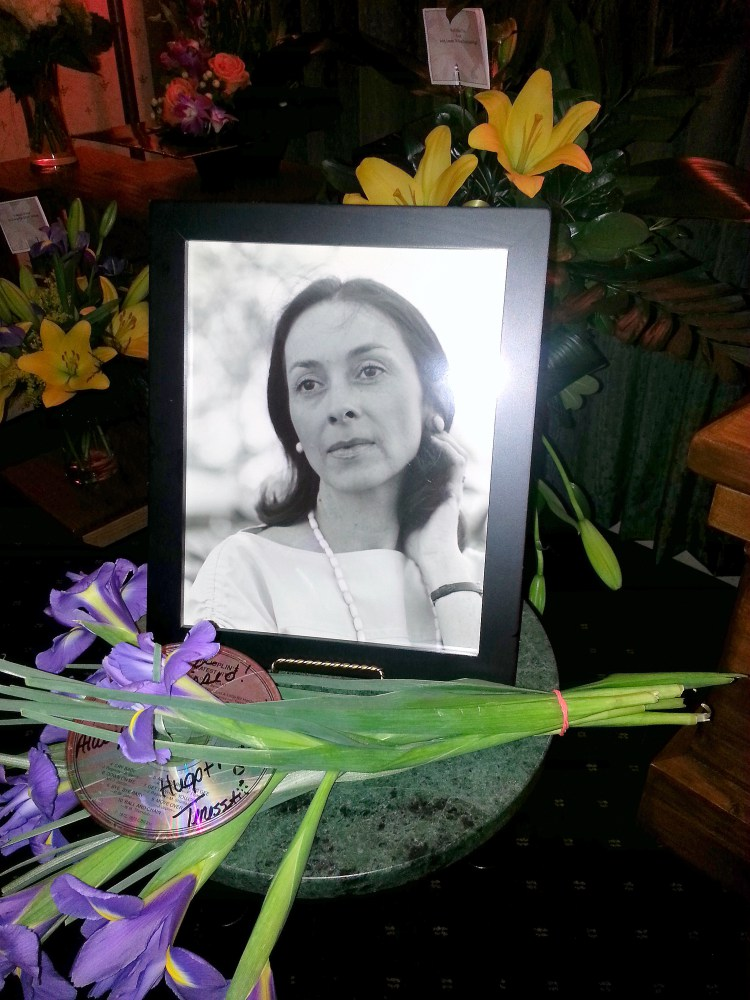 Memorial to Helen Bechdel - picture and flowers