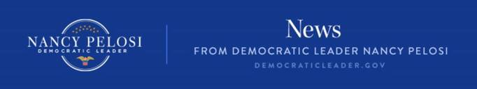 logo banner used by Nancy Pelosi when she sends out news in her position as the House Democratic Leader