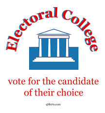 Graphic of a government building saying that the Electoral College member should not be bound by party but by voting of the candidate who is qualified.