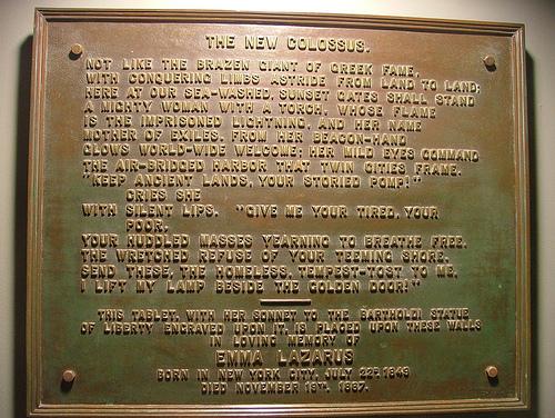 Bronze Plaque of New Colossus
