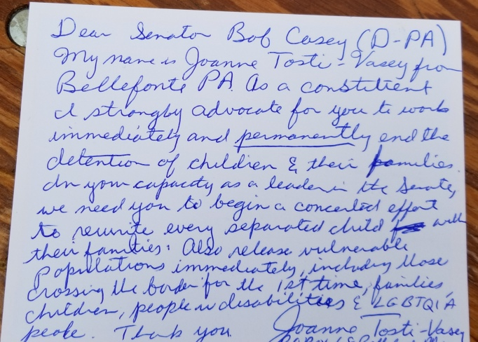 Text of letter to Senator Bob Casey (D-PA)