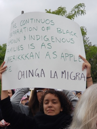 Another indigenous woman speaking out against the separation of families and comparing immigrant separation to the historic separation of black and indigenous families in US history.